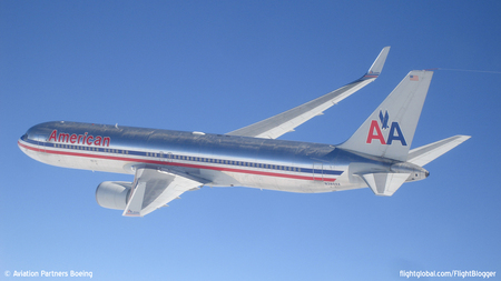 American opera primeiro voo de 767 com winglets