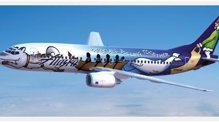 O lindo Alaska Air já está voando