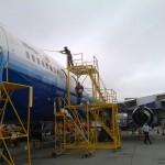 Lava rápido de aviões, não é tão fácil. (vale um brinde)