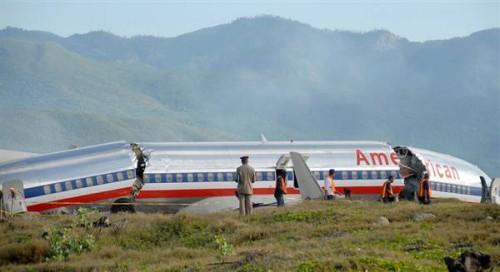 American 737 Jamaica
