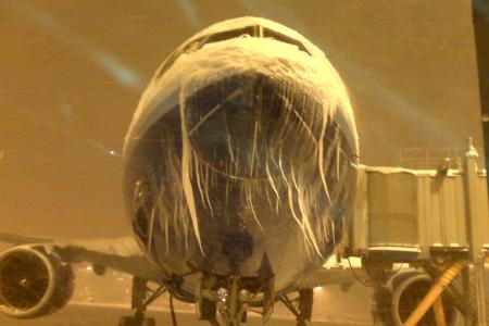 Foto impressionante: Porque os voos estão cancelando nos EUA