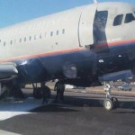 Airbus A319 da United pousou com problemas no trem de pouso em Newark hoje.