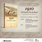 Convite para o lançamento do livro 1910 – O primeiro voo do Brasil