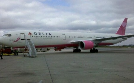 Delta Airlines 1821, the Pink Plane