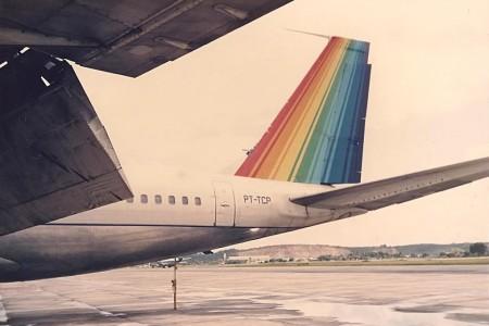 Fotos Raras – Boeing 707 da TransBrasil PT-TCP decolando trimotor