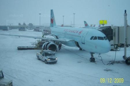E pushback no meio da neve?