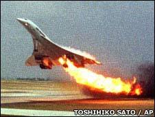 O absurdo final do caso da queda do Concorde em Julho de 2000