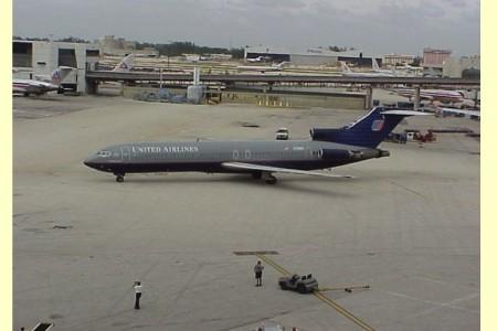 O ultimo voo de um 727 da United a deixar Miami #fotos