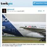 Putz… e o Airbus A380 batendo de novo a asa?