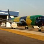 Olha essa pintura da Azul com a bandeira brasileira que legal!  PR-AYV