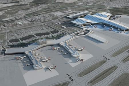 Novas imagens do belo Terminal 3 de Guarulhos, com posição para dois A380's