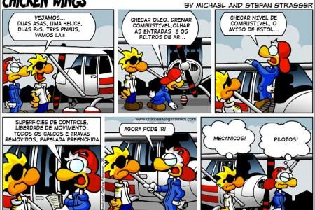 Pilotos versus Mecânicos #tirinha