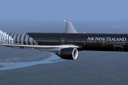 O maior avião comercial pintado de preto de toda a história