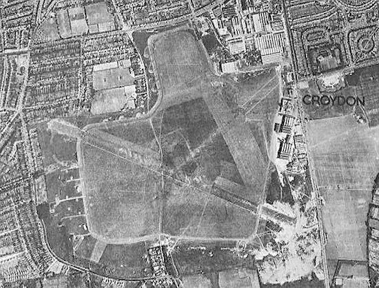 Aeroporto de Croydon, Londres, em 1945