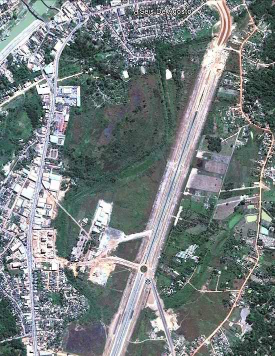 O antigo aeroporto de Rio Branco, no Acre, sendo reurbanizado