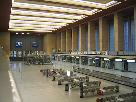 Interior do terminal de Tempelhof