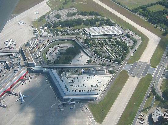 Vista aérea do aeroporto de Tegel, em Berlim