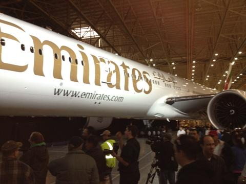 Uma entrega para ser lembrada. A Emirates é o nossa maior cliente de 777.
