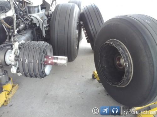 O pneu fora do eixo
