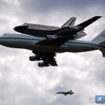 Discovery Space Shuttle transportada em cima do 747 para o museu de Washington #fotos #spotting
