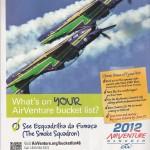 Matéria e publicidade da Esquadrilha da Fumaça na Sport Aviation de Junho sobre Oshkosh @fumaca_ja