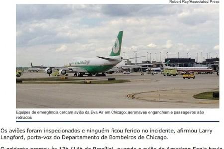 Ainda bem que o avião de carga não levava passageiros #imprensa