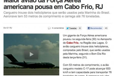 O C-17 não é o maior avião da Força Aérea Americana #imprensa #erros