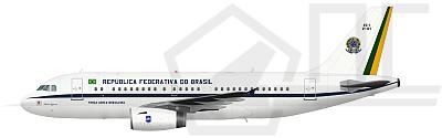 Perfil do A320 da Presidência