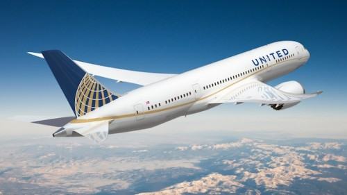 Renderizção da pintura nova do 787 da United