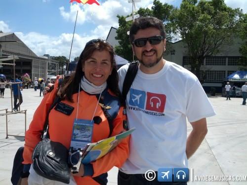 Foto do Lito com Marta Lúcia Bognar