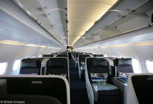 Cabine do A318 executivo da British Airways
