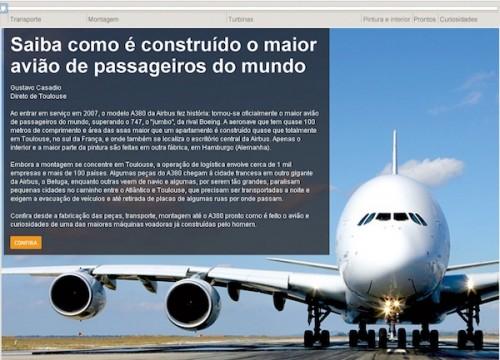 Infográfico construção do Airbus A380