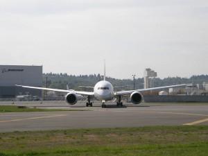 Boeing 787 em Seattle