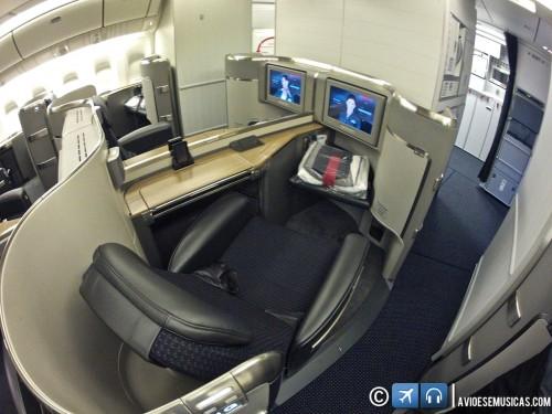 Assento da primeira classe - FlatBed