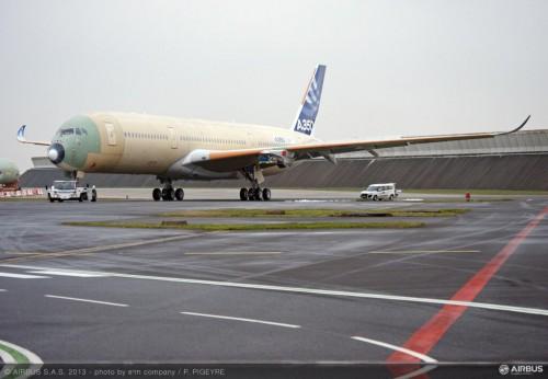 Foto do A350 divulgada pela Airbus Industries