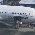 Boeing 787 ZA005 sendo preparado para voos de testes