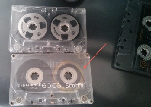 Fita Cassete Basf Normal abaixo da Gradiente Metal