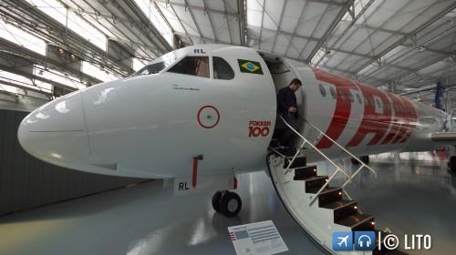 Fokker 100 - Museu da TAM em São Carlos