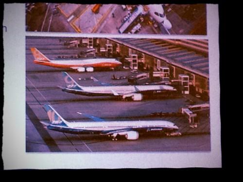 Renderização da Boeing - 747-8, 777X, 787X