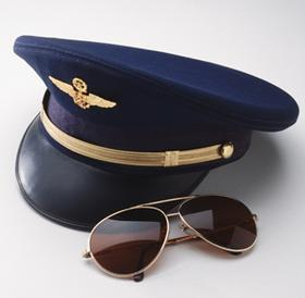 Pilot Hat and Glasses