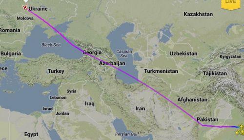 Boeing 787 da Air India, de Délhi para Frankfurt, depois de ter sobrevoado o território do arqui-inimigo Paquistão.