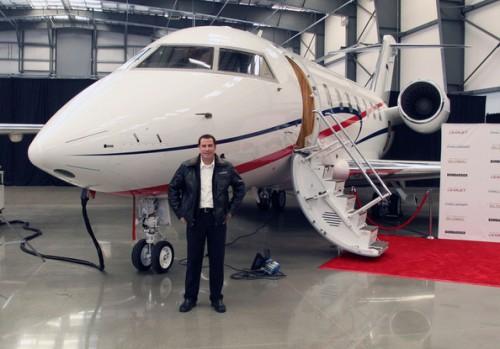 John Travolta na Bombardier