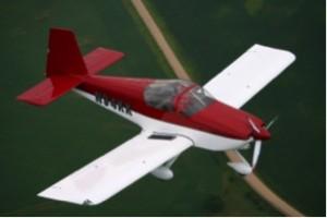 Um RV-9A, ultraleve avançado com motor Lycoming de 160hp, velocidade de cruzeiro de 190mph (306 km/h!), que chega a custar R$ 300.000,00. Foto retirada do site do fabricante.