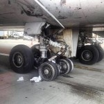 Estouro de pneu na decolagem