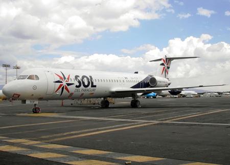 Fokker 100 da Sol