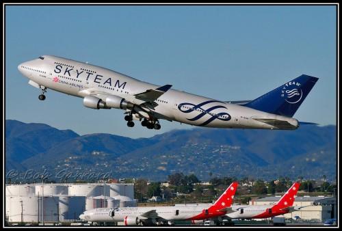 #5 China Airlines Sky Team em um Boeing 747-400 por Bob Garrard