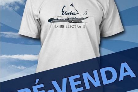 Camiseta nova do Aviões e Músicas – Lockheed Electra
