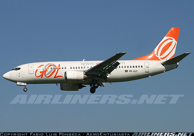 Boeing 737-300 - GOL linhas aéreas. Foto: Fabio Luis Fonseca