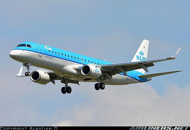 Embraer Ejet-190 - KLM. Foto: Alsatian D.
