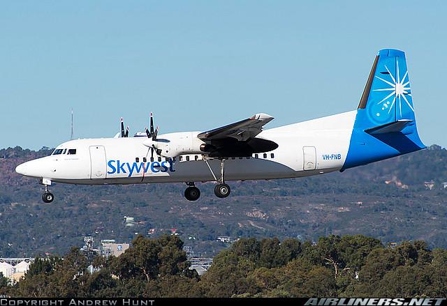 Fokker 50 - Skywest Airlines. Foto: Andrew Hunt